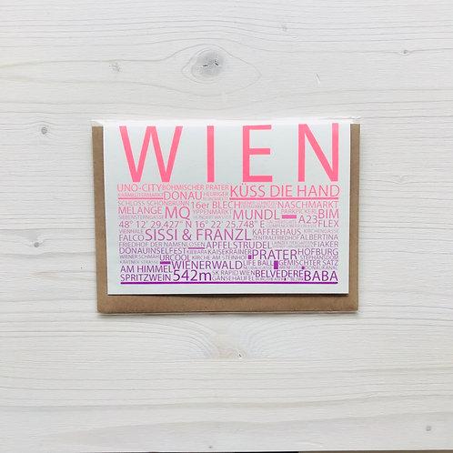 Klappkarte Highlights Wien 2