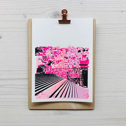 Mini.Kunstdruck Escalera 1