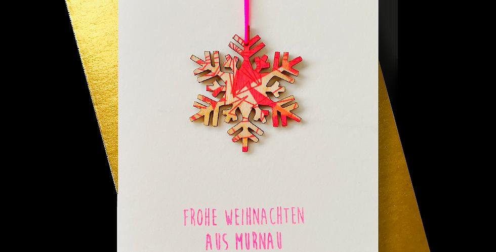 Frohe Weihnachten aus Murnau * Schneekristall