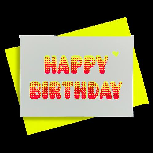 Bubble Birthday Neongelb