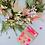 Thumbnail: Weihnachtsanhänger neonpink