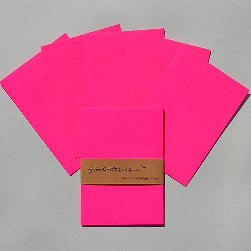 Neonumschläge Pink