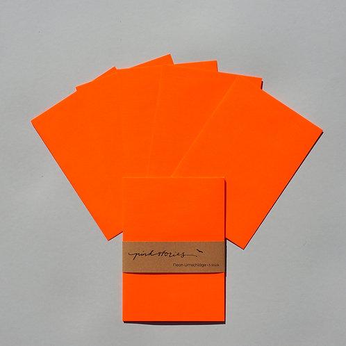 Neonumschläge Orange