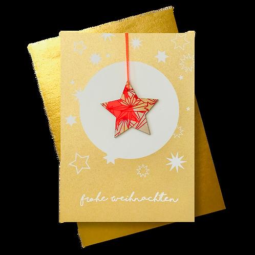 Frohe Weihnachen gold * Stern