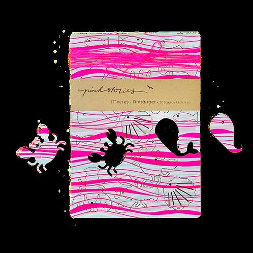 Meeres-Anhänger Waves pink
