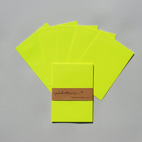 Neonumschläge gelb