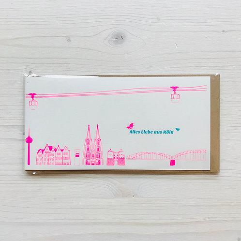 Klappkarte Stadtperlen Köln 4