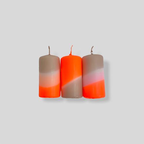 Dip Dye Neon * Papaya Pebbles