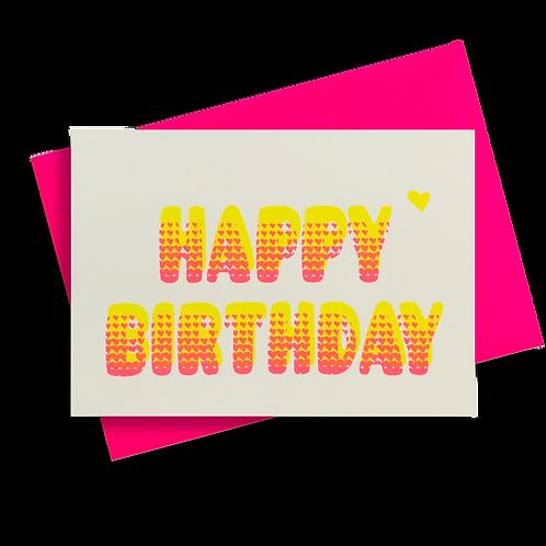 Bubble Birthday Zitronengelb