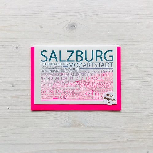 Klappkarte Highlights Salzburg 2