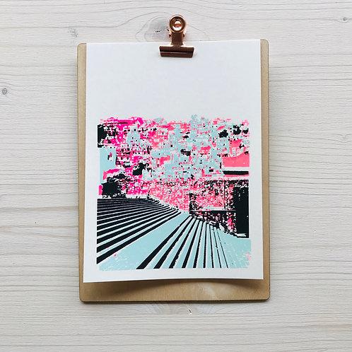 Mini.Kunstdruck Escalera 2