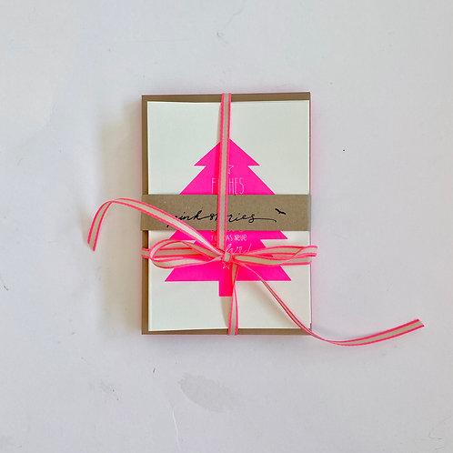 10-er Pack Weihnachtskarten Siebdruck