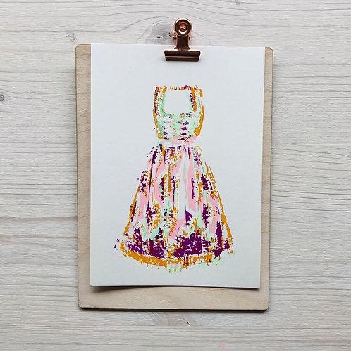 Mini.Kunstdruck Dirndl 26