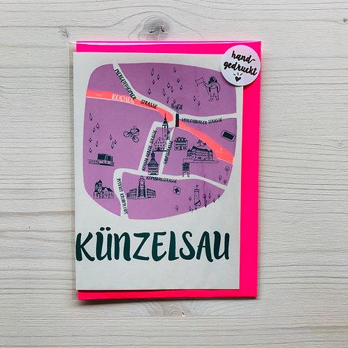 Klappkarte Citymap Künzelsau 2