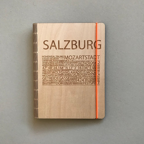 Holzeinband Salzburg neonorange