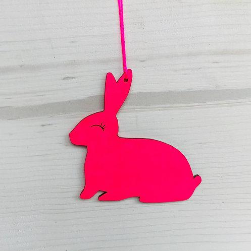 Pinker Osterhase 7 cm