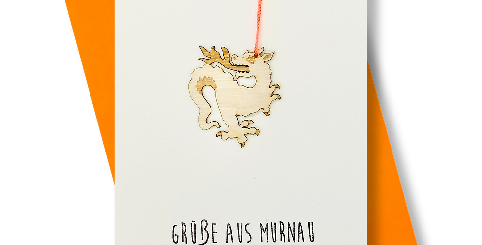 Grüße aus Murnau ^ Holzdrache