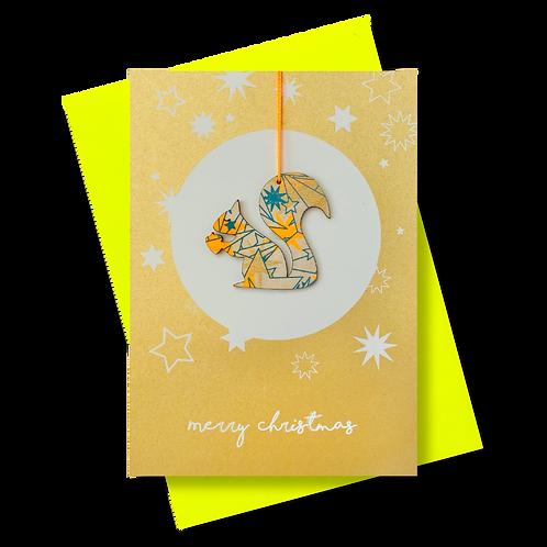 Merry Christmas gold * Eichhörnchen