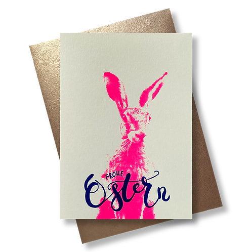 Frohe Ostern Foto Pink