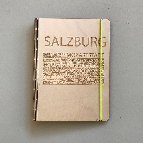 Holzeinband Salzburg neongelb