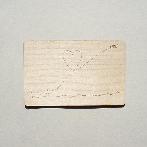 Holzpostkarte Murnau