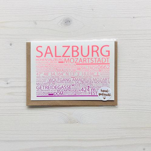 Klappkarte Highlights Salzburg 1
