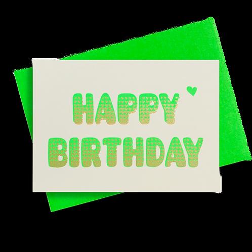 Bubble Birthday Neongrün