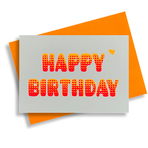 Bubble Birthday goldorange