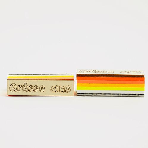 Stempel Grüße aus (gelb)