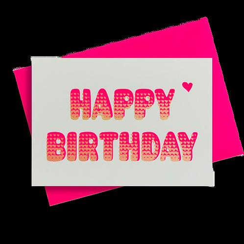 Bubble Birthday Neonpink