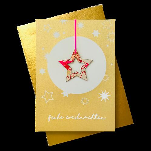 Frohe Weihnachten gold * Sternkontur