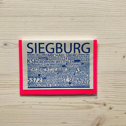 Klappkarte Highlights Siegburg 1