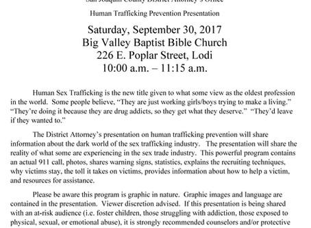 Community Presentation:                   Human Trafficking Prevention Presentation