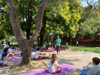 kids yoga nature