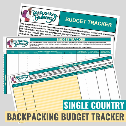 Backpacking Budget Tracker (Single Country)