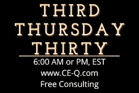 Invitation to register for Third Thursday Thirty, Free Consulting