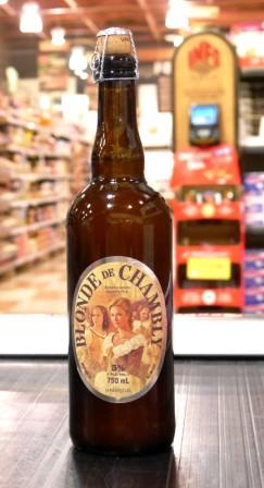 Microbrasserie Unibroue. Bière : Blonde de Chambly