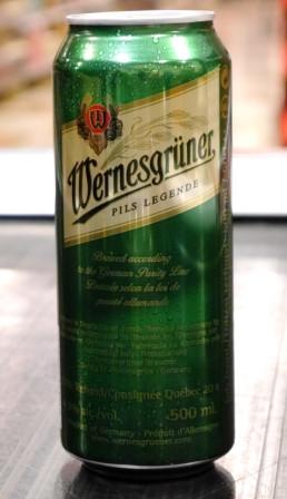 Brasserie Bitburger. Bière : Wernesgrüner