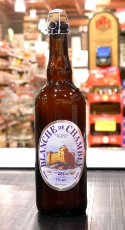 Microbrasserie Unibroue. Bière : Blanche de Chambly