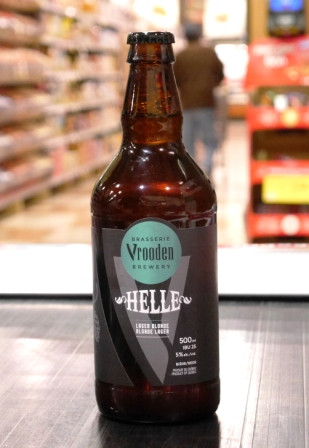 Microbrasserie Vrooden. Bière : Helle