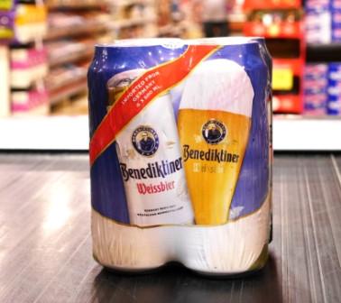 Brasserie Bitburger. Bière : Benediktiner Hell