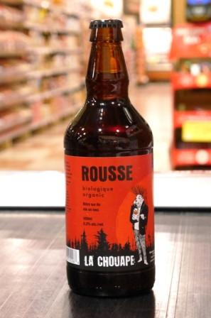Microbrasserie La Chouape. Bière : Rousse