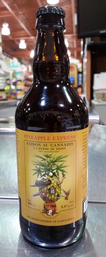 Microbrasserie Le Saint-Bock. Bière : Pineapple Express