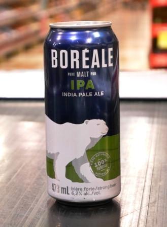Microbrasserie Boréale. Bière : La IPA