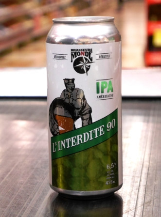 Brasseurs du monde. Bière l'interdite 90 IPA