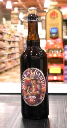 Microbrasserie Unibroue. Bière : Noire de Chambly
