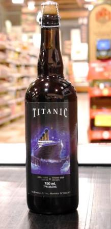 Les brasseurs RJ. Bière : Titanic