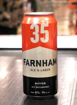 Microbrasserie Farnham Ale&Lager. Bière : 35