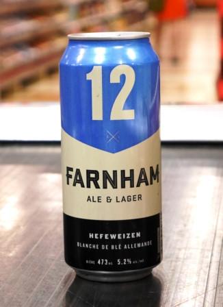 Microbrasserie Farnham Ale&Lager. Bière : 12
