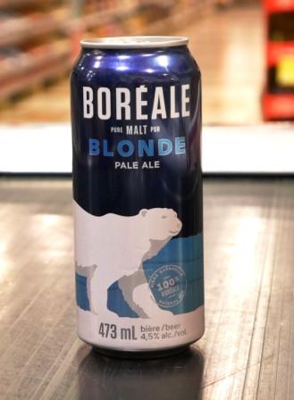 Microbrasserie Boréale. Bière : Blonde